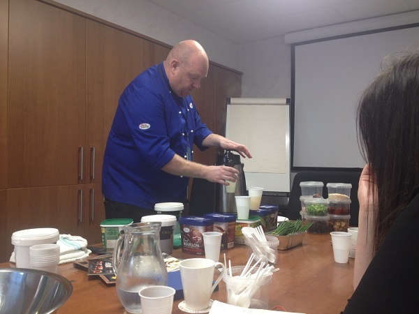 Menu design ideas with Chef James demoing our catering food supplies