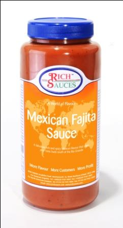Robust and flavourful - Our mexican fajita sauce gets taste buds tingling