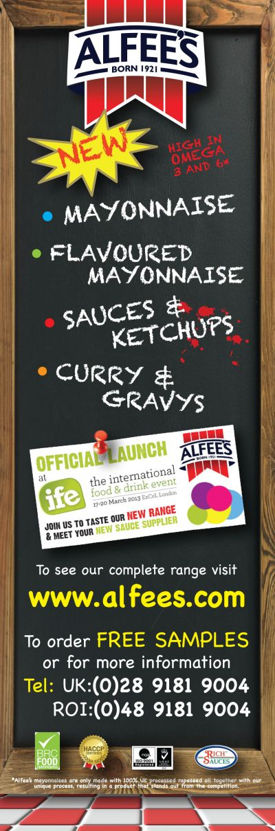 Alfees - the NEW range of foodservice sauces