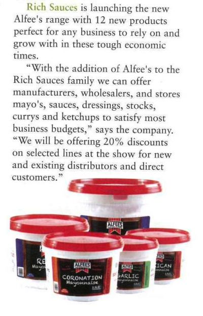 Alfees features in New Product Showcase at IFE13