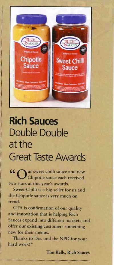Double Double Great Taste Awards featured in Ulster Grocer