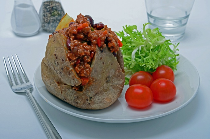 Chilli Beef Baked Potato