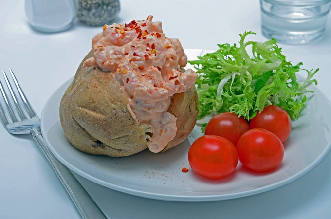 Sweet Chilli Prawn Baked Potato