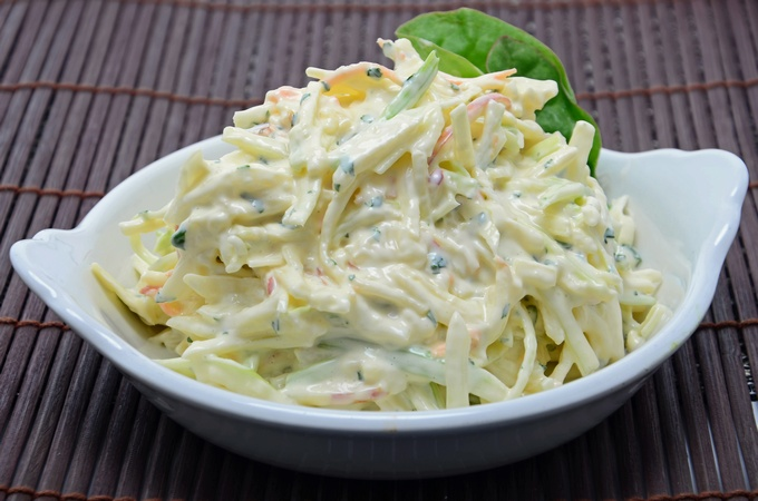 Apple and Celery Coleslaw