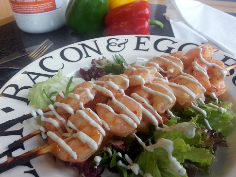 Quality prawn & ranch dressing catering food supplies make this cafe menu ideas