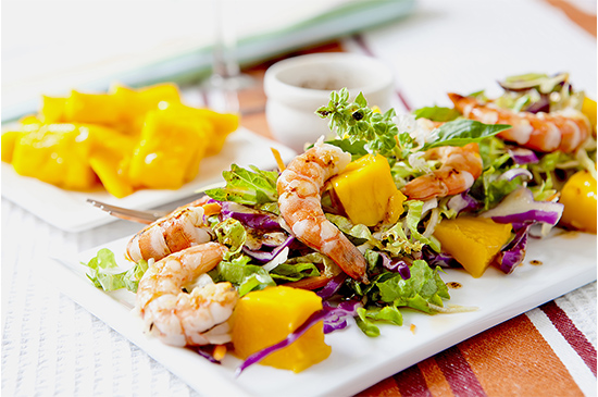 Tiger Prawns With Mango Salsa