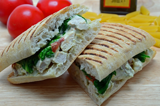 Pesto Chicken Panini