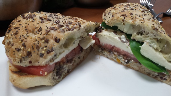 Neapolitan on multi grain ciabatta made with rich sauces catering food supplies