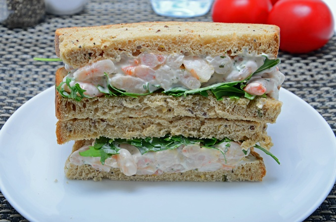 Garlic Prawn Sandwich