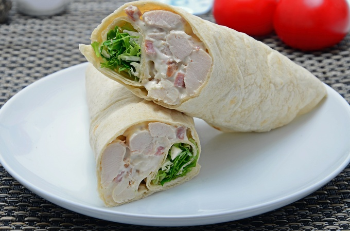 Caesar Chicken Bacon Wrap