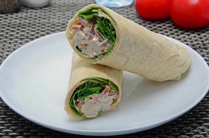 Honey Mustard Chicken Bacon Wrap