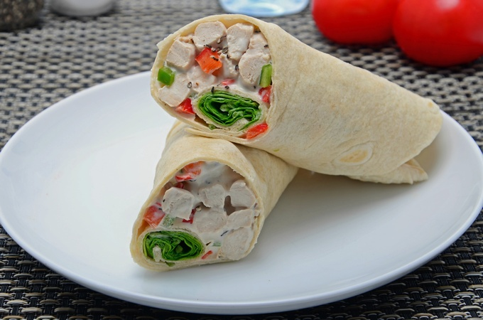 Pepper Chicken Wrap