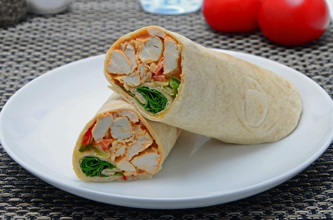 Fire Roasted Chicken Wrap
