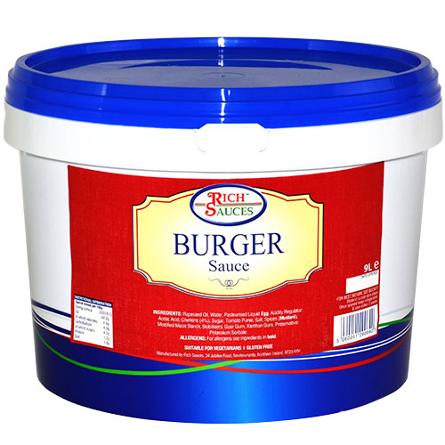 Rich Sauces 9 Burger Sauce catering supplies