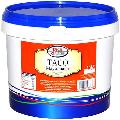 Rich Sauces 4.5 Taco Mayonnaise or taco sauce catering supplies