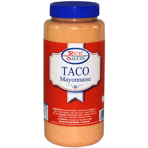 Rich Sauces 2.2 Taco Mayonnaise or taco sauce catering supplies