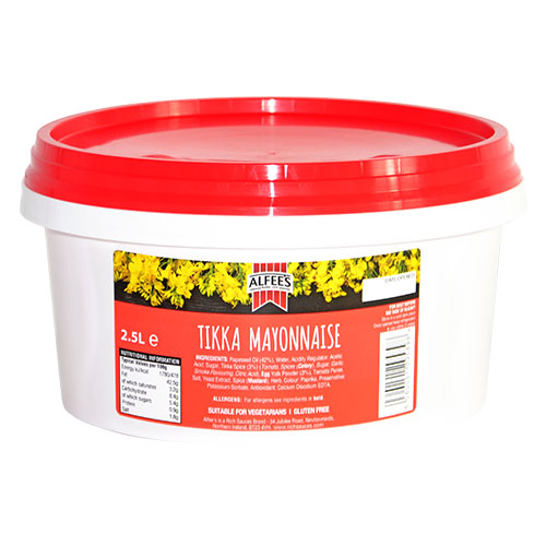 Alfees 2.5 litre Tikka Mayonnaise Recipe a perfect catering supplies